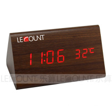 Wood Grain Alarm Clock (CL131A)