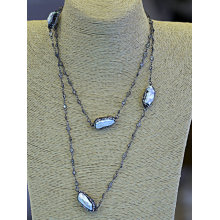Fashion Fresh Water Baroque Pearl Chain Necklace Jewelry