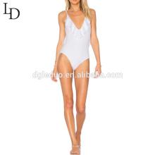 Traje de baño de la mujer de bikinis de una sola pieza de la muchacha atractiva de 2017 señoras