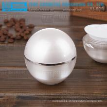 YJ-O70 70g útil e atraente alta qualidade acrílico bola forma 70g frasco plástico