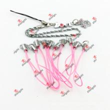 Cordon de bride de combiné rose pour chaîne principale (PMR51111)