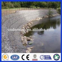 DM hot dipped galvanized stone cage gabion wall, high quality gabion retaining wall