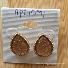 Colorful Volcanic Rock Earrings Fashion Jewelry