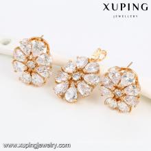 64007-Xuping fashion new model 18K gold plated 2 PCS jewelry set