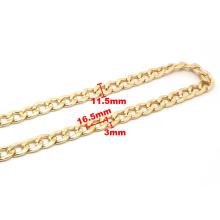 Wholesale High Quality Long Aluminum Chain Gold Handbag Chain Strap