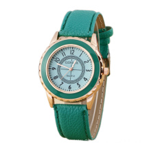Gold Business Leather Watch for Women