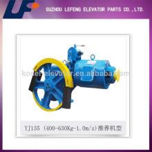Tracción de la máquina Ascensor sistema de elevación Geared máquina de tracción YJ135
