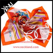Bufanda de algodón de diseño personalizado con estampado digital
