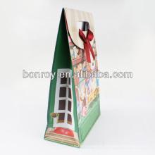 Bolsa de papel para compras / Bolsa de papel para regalos / Bolsa de compras para papel con asa de cinta