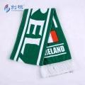 custom design scarves printed football fleece scarf
