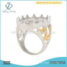 Wholesale stainless steel hollow mens indonesia rings, high quality rings