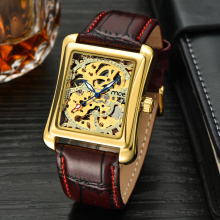 automatique skeleton business mens watches