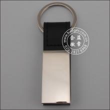 Custom Metal Key Chain, Leather Key Ring (GZHY-KA-013)