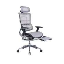 Mesh Chair Swivel Executive Reclining Office Chair With Footrest