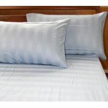 100% cotton fabric with stripe for bed sheets