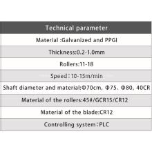 Máquina perfiladora de láminas de techo corrugado
