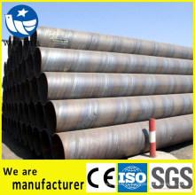 Tuyau en acier SSAW Q235 pour le transport de fluide gaz et pétrole
