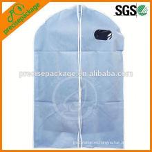 Bolso de traje no tejido personalizado con ventana y manijas portátiles