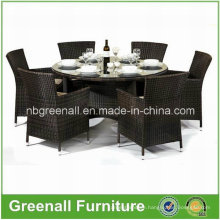 Rattan Dining Round Table and Chair Set
