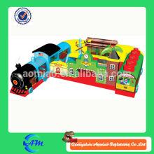 Curso popular do obstáculo inflável do trem para o trem inflável dos miúdos