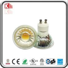 Ce RoHS ETL Vidro GU10 MR16 COB Holofotes LED