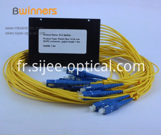 Cassette Type 1x16 Plc Optical Splitter With Sc Upc Connector