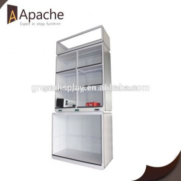 Great durability movable floor shampoo display stand