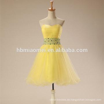 2017 neue Mode Alibaba Gelb Farbe Tüll Formale Kleider Abendkleid In China