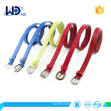 multi-color cowhide leather factory belt for women