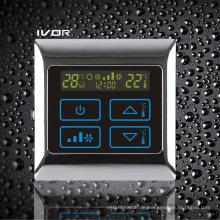 4-Rohr-Klimagerät-Thermostat-Berührungsschalter im Metallrahmen (SK-AC2000T-4P-N)
