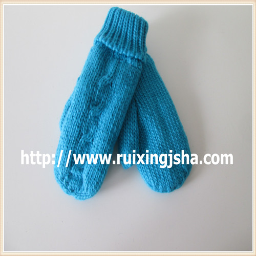 hand knitted remix winter gloves