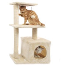 Sustainable Stocked Easy Assemble Durable Cat Furniture High Climbing Condo Cat Tree