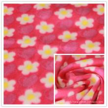 FDY 150d/96f 100%Polyester Floral Printed Polar Fleece Print Terry Fleece, Garment Fabric, Blanket Fabric.