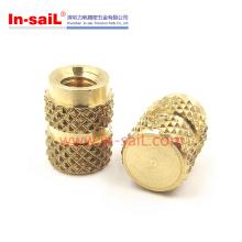 Outer Knurl Brass Threaded Insert Nut