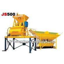 JS500 misturador de concreto de eixo duplo de alta eficiência
