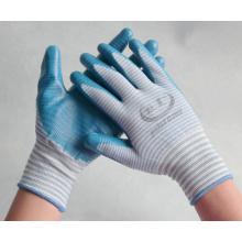 Gants de travail tricotés en nylon de calibre 13 recouverts de nitrile sur la paume