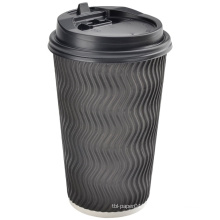 hot selling ripple paper coffee cups