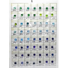 Tabla de colores de vidrio B1