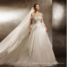 Elegant A Line Wedding Dress with Adjustable Train Length