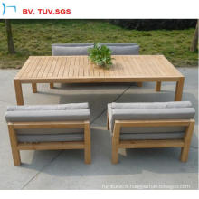Outdoor Teak Wood Dining Sofa with Cushion for Sale (CF845)
