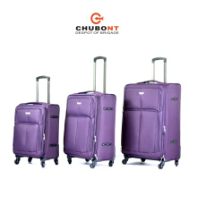 2016 Cheap Four Wheels Expandable Polyester Travel Trolley Case