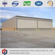 Hangar de aeronaves de armação de aço estrutural