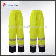 Pantalon de travail réfléchissant imperméable professionnel de haute qualité de pantalons de sécurité avec 2 poches