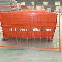 Panneaux de clôture temporaires de PVC de couleur orange de 6ftx9.5ft Canada (HT-001)