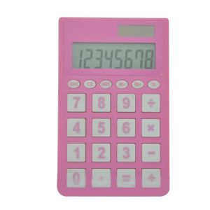 8 Digit Promotional Cute Pink Pocket Calculator