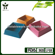 Bacia de animal de estimação de bambu da fibra / bacia amigável do animal de estimação