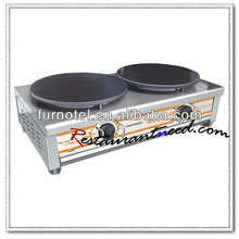 K495 2 Plates Table Top Stainless Steel Electric Crepe Maker For 2