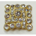 Forme carrée Strass Shoe Clips