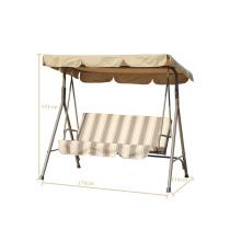 Balançoire de patio pour 3 personnes avec mobilier d'extérieur à baldaquin 2014