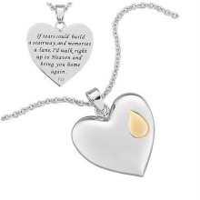 2015 s.steel jewelry necklace vners heart pendant necklace for ladies